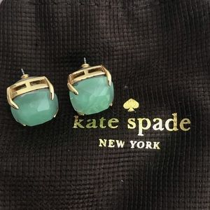 Kate Spade semiprecious small square stud earrings